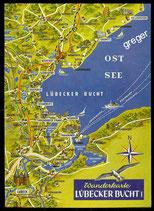 AK Landkarte  von der Lübecker Bucht   73/25