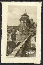 AK Rothenburg o.T.Bayern, Stadtmauer und Kobolzellertor    37f