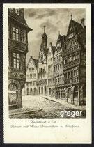 AK Frankfurt a. M. Römer mit Haus Frauensteinund Salzhaus    63b