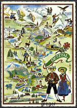 AK Landkarte Ferien im Ötztal    48m