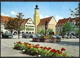 AK Freudenstadt, Marktplatz mit Rathaus und Neptun-Brunnen     34/ 30