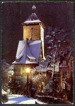 AK Freiburg Schwarzwald, Winternacht am Schwabentor   16/21