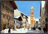 Ak Mittenwald, Pfarrkirche St. Peter und Paul mit freskobemaltem, barockem Turm,    34/22