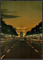 AK Paris la nuit L'Arc de Triomphe    t 29
