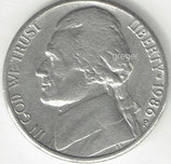 Kursmünze USA FIVE CENTS von 1986 P  1X