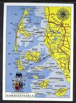 AK Landkarte Nordseeinseln    q3