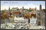 AK Nürnberg Hauptmarkt mit Burg    3/39