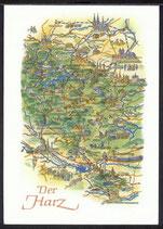 AK Landkarte DDR Der Harz    q21