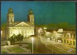 AK Debrecen, Kossuth Lajos Platz mit Kirche    u 15