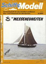 Schiffsmodell 3/90 a  mit Planzeichnungen vom Gaffelkutter