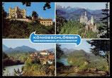 AK Mehrbildkarte, Königsschloss Neuschwanstein  u. Hohenschwangau   73/18