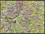 AK Landkarte Lüneburger Heide    q1