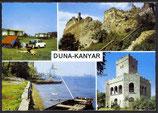 AK Duna-Kanyar, Donauknie Mehrbildkarte   u 11