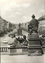 AK Prag Wenzelplatz von der Rampe des Nationalmuseums    w2