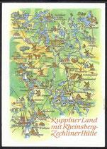 AK Landkarte Ruppiner Land    q31