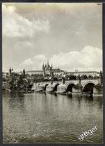 AK Prag Burg und Karlsbrücke    x37