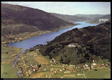 AK Osslachersee mit Ruine Landskron Panorama in Kärnten   61/9