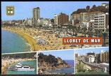 AK Lloret de Mar, Mehrbildkarte    58/12