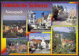 AK Fränkische Schweiz Mehrbildkarte, Naturpark     21/10