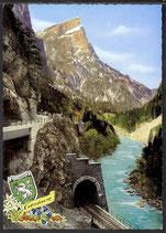 AK Gesäuse, Hochsteg-Tunnel mit Planspitze  28/2