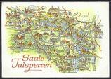 AK Landkarte DDR Saale-Talsperren    q29