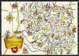 AK Landkarte Gruß aus dem Harz    q17