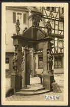 AK Wertheim, der Engelbrunnen     87h