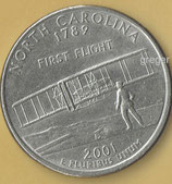 QUARTER DOLLAR  - North Carolina von 2001  -   1x