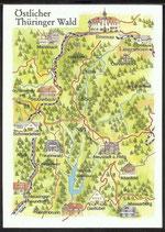 AK Landkarte DDR Östlicher Thüringer Wald    q32