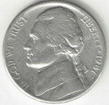 Kursmünze USA FIVE CENTS von 1987 P  1x