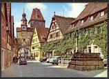 AK  Rothenburg o. d. Tauber, Rödergasse mit Markusturm   34/46