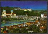 AK Passau bei Nacht, Panorama    89p