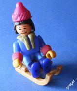 Bei den Eskimos von 1994  -  Mädchen mit Schlitten   10x