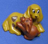 Unser kleiner Streichelzoo von 99/2000 - Hund mit Welpe - mit  BPZ Nr. 620 378 - 1x