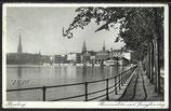 AK Deutsches Reich,  Hamburg Binnenalster u. Jungferstieg    95f