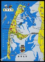 AK Landkarte von Sylt     73/24