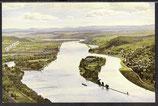 AK Am Rhein, Blick vom Drachenfels auf Insel Nonnenwerth    44/23