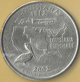 QUARTER DOLLAR - Louisiana von 2002   - 1x