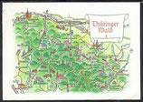 AK Landkarte Thüringer Wald   q26