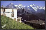 AK Schynige Platte  Hotel  Blick auf Eiger, Mönch, Jungfrau, Männlichen     y5