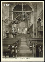 AK Stiftskirche Fischbeck, Blick auf Kanzel u. Hochaltar      61/32