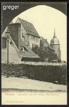 AK  Meissen Durchblick nach der Königl Albrechtsburg  63c