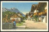 Ak Die Frühlingsstrasse in Garmisch   14/40