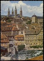 AK Bamberg, Blick auf die Altstadt mit Dom   66/20