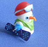 die lustigen  Kugelkopf Schneemänner   -  Snowboarder   659 320   3x