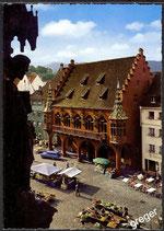 AK Freiburg Breisgau Münsterpiatz u. Kaufhaus   15/45