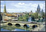 AK Metz, La Moselle et le temple prostestant    97-o