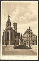 AK Stuttgart, Stiftskirche, Kornhaus, Schillerdenkmal    5/7
