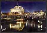 AK Rom bei Nacht, Engelsbrücke u. Burg    49/1
