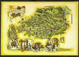 AK Landkarte Die Nahe Weinstrasse    q11